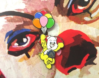 Pennywise the Clown Scare Bear Enamel Pin // It // Pennywise Lapel Pin // Pin // Flair