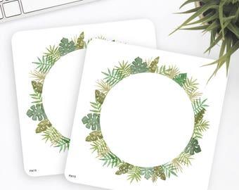 FW15 | Flower Wreath Sticker | Decorative Sticker | Watercolor Sticker | Planner Stickers | Bullet Journal Stickers