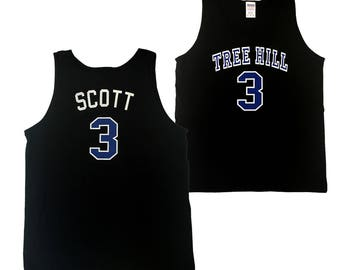 Lucas Scott Tank Top # 3 Tree Hill Jersey As Worn In One Tree Hill TV Show Ravens Basketball High School Player Shirt Costume Adult Black
