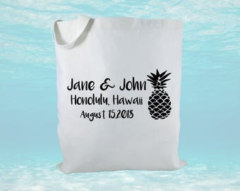 Personalized Wedding Welcome Bag, Canvas Tote Bag, Destination Wedding Gift Bag, Wedding Welcome Bag, Bridal Gift Bag