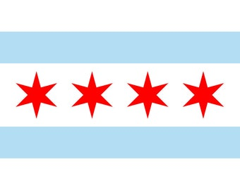 City of Chicago Flag and Banner 3' x 5'