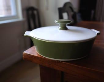 Corning Ware 1 qt, vintage corning ware casserole, green corning ware, retro kitchen, corning ware P701B, corning ware dish with lid