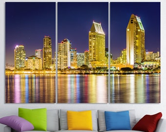 San Diego Art California Cityscape San Diego Wall Art San Diego Wall Decor San Diego Home Decor San Diego Skyline San Diego Print Canvas Art
