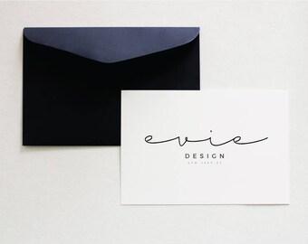 Minimalist Logo, Pre Made Logo, Minimalist Design - Calligraphy Logo - Minimalist Logo - Typography Logo - Simple Branding - Feminine Logo