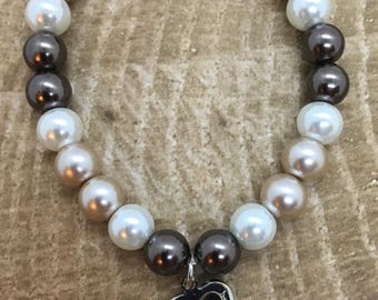 Beaded Bracelet with locket charm