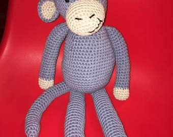 Hand-Knitted Monkey / Stuffed Animal / Children's Toy