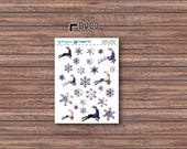 Cosmic Winter Deco Stickers | ECLP | Happy Planner | Recollections Planner