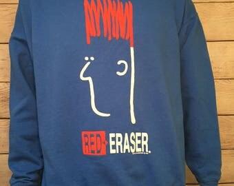 Vintage 1992 Red Earser crewneck sweatshirt