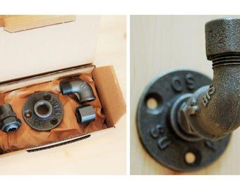 DIY coat rack hook in cast iron - gift box