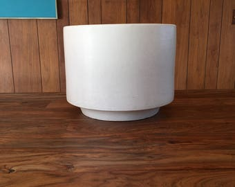 Gainey Ceramics C-14 Midcentury Cylinder Planter in Matte White