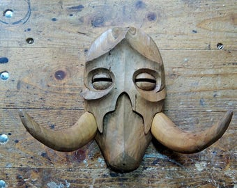 Skyrim Konahrik Mask Handcarved Out Of Solid Wood