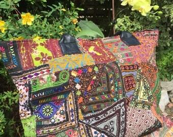 Colourful summer bag, multicolour shoulder bag, banjara bag