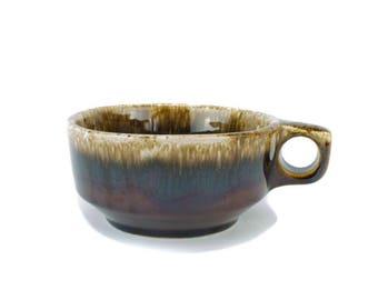 Hull Pottery USA,Hull Brown Drip, Oven Proof Drip , Soup Mug, Coffee Mug Vintage American Pottery