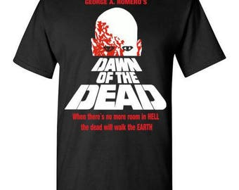 Dawn of the Dead vintage retro classic horror movie zombie Tee T-shirt  S - 5XL
