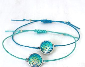 Mermaid Beach Bracelet, Mermaid Jewelry for Her, Mermaid Charm Jewelry Gift, Mermaid Gift Bracelet, Mermaid, Mermaid Friendship Bracelet
