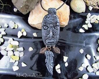 """Pendant mask of the shaman """"Misquamacus"""""""