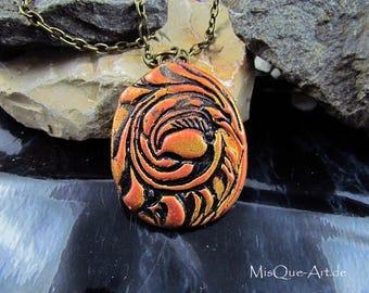 """Necklace pendant """"Flora"""""""
