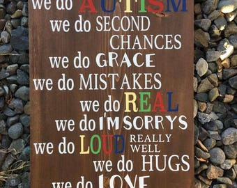 Autism Family Sign | Autism Awareness, gift for mom, gift for her, autism awareness mom, autism mom, autism family, Autistic Family, family
