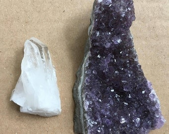 Amethyst and Clear Quartz Collection