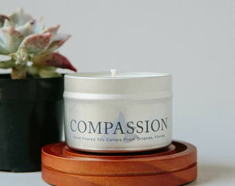 Compassion Candle, Candle Gift Sister, Best Friend Candle, Nurse Appreciation Gift, Veterinarian Gift, Volunteer Thank You Gift