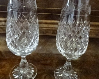 Beautiful Pair of Crystal Champagne Glasses/Collectable/Vintage