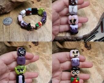 Teen Titans Glass Bracelet