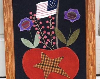 Americana Framed Wool Pumpkin
