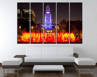 Los Angeles skyline Los Angeles Wall Art Los Angeles California Los Angeles Canvas Los Angeles Print Los Angeles Poster Los Angeles Photo LA