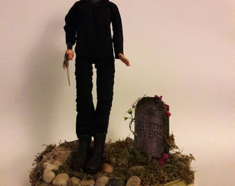 "Barbie ""Halloween"" Michael Myers Halloween Custom Graveyard Scene Diorama"