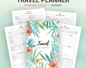TRAVEL PLANNER, printable planner, packing list, road map, daily itinerary, pre-trip planning, travel expenses... A5, A4, letter, half size