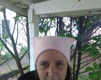 Pussyhat, pussy hat, Pink fleece, free speech, women's rights, beanie, women's march hat, polar fleece, pink, feminist, feminism, girl power