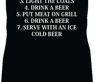 BBQ rules for men Fourth of July grilling apron