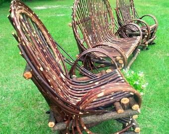 Bent wood Twig Willow Furniture Set