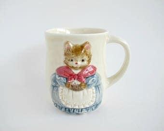 Otagiri Vintage Cat Mug, Cat Coffee Cup