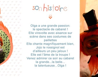 OOAK marionette / Puppet: Olga ostrich