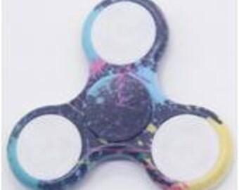 Splatter Paint Led Fidget Spinner