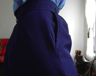 Vintage Navy True Colors Womens High Waisted Trouser