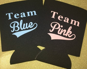 Gender Reveal  Baby Shower Can Coolers