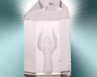 Clear quartz crystal angel