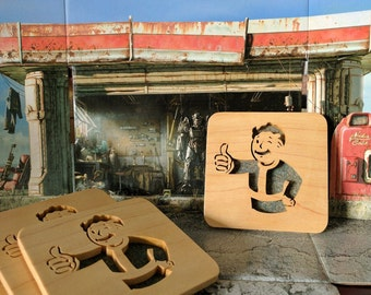 Vault Boy Hand Cut Wooden Deskorations