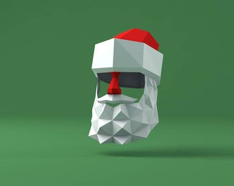 Santa Claus V2 Low Poly Mask Download PDF