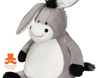 Personalised Plush Animal – Duncan Donkey