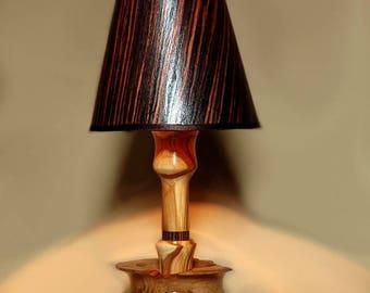 Handmade Wooden Lamp Wooden Lamp, Wood Veneer Lampshade, Wooden Table Lamp,  Wooden Bedside