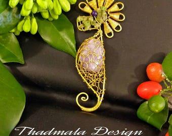 boho seahorse necklace