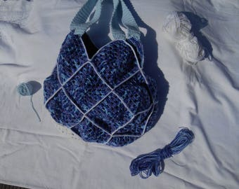 lining fabric crochet bag