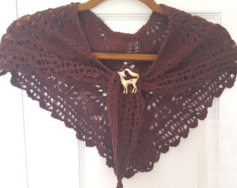 Chocolate Lace Shawl