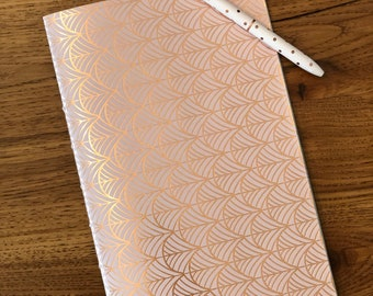 40 page journal with pink and rose gold cover