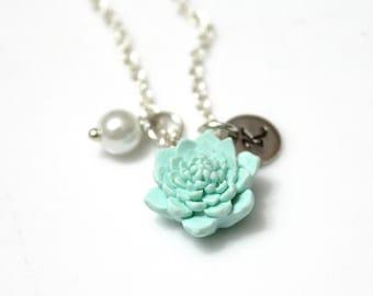 Personalized Flower Girl Necklace Kids Wedding Jewelry