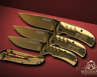8 Personalized Knifes - 8 Groomsmen engraved gift - Engraved tactical Groomsmen knife set - Wedding Groom & Bride gift - Best Man gifts