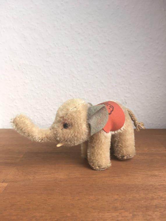 60s Vintage Steiff Mini ELEPHANT